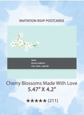 Cherry Blossoms Made With Love - RSVP Postcards