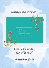 Classic Calendar - RSVP Postcards