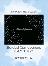 Stardust Quinceanera - The Insert Cards