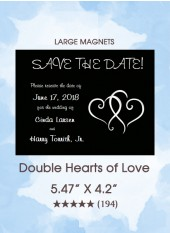 Save the Dates - Double Hearts of Love