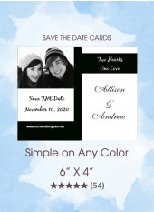 Save the Dates - Simple on Any Color