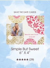Save the Dates - Simple But Sweet