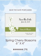 Save the Dates - Spring Cherry Blossoms