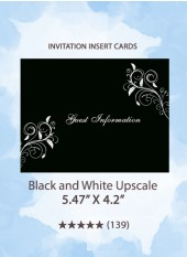 Black and White Upscale - Insert Cards