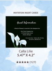 Calla Lilie - Insert Cards