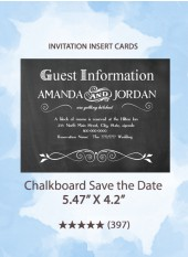 Chalkboard Save the Date - Insert Cards