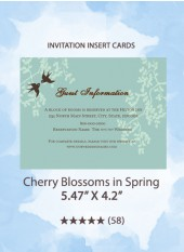Cherry Blossoms in Spring - Insert Cards