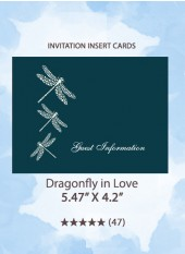 Dragonfly in Love - Invitation Insert Cards