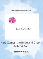 Here Comes the Bride and Groom - Insert Cards
