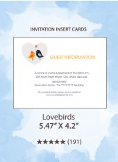 Lovebirds - Insert Cards