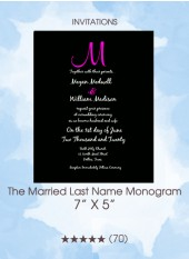 Invitations - The Married Last Name Monogram