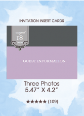 Three Photos - Insert Cards