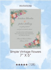 Invitations - Simple Vintage Flowers