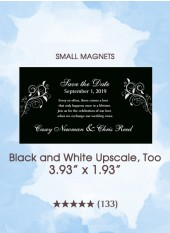 Save the Dates - Black and White Upscale, Too