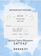 Spring Cherry Blossoms - RSVP Postcards