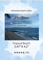 Tropical Beach - Insert Cards