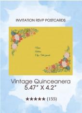 Vintage Quinceanera - RSVP Postcards