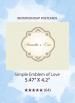 Simple Emblem of Love - RSVP Postcards