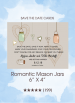 Save the Dates - Romantic Mason Jars