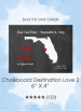 Save the Dates - Chalkboard Destination Love 2