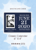 Save the Dates - Classic Calendar