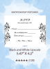Black and White Upscale - RSVP Postcards