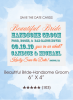Beautiful Bride-Handsome Groom Save the Date Cards
